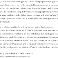 happiness // wholeness