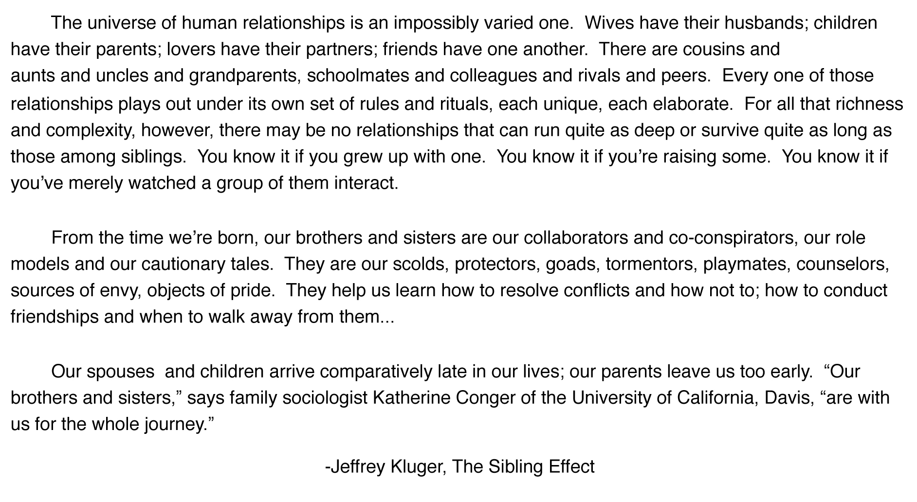 the sibling effect kluger jeffrey